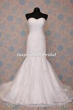 1599 White Ivory wedding dress mermaid skirt ombera size 8 10 12 14 16 18 20 UK