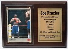 Joe Frazier Boxing Card Plaque