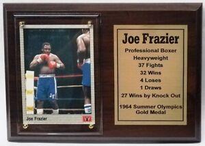 Joe Frazier Boxing Card Plaque