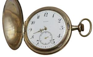 ELGIN Taschenuhr Savonette 52mm Keystone Watchcase Gehäuse gold-filled um 1912