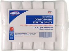"3""  ELASTIC CONFORMING STRETCH GAUZE BANDAGES N/S - 96 ROLLS/CS"