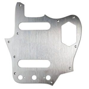 American Vintage Series Jaguar Pickguard - Brushed Chrome Aluminum