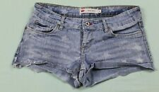 Levis Womens Shorty Short Distressed Star Print Size 5 Blue GUC #13314