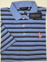NWT $89 Polo Ralph Lauren Short Sleeve Blue Black Striped Shirt Mens L XL XXL
