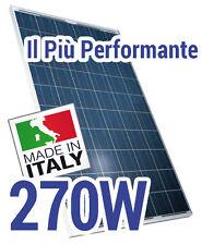 Pannello Solare Fotovoltaico Made in Italy 270 W, ideale per Baita e Camper 24V