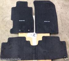 Genuine OEM Honda Civic 2dr / 4dr Black Carpet Floor Mats 2001 - 2005   S5P
