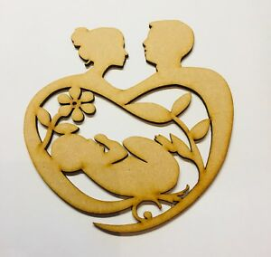 Pregnant Couple With Baby Size 140mm x 130mm Blank Craft 3mm Mdf