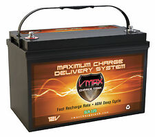 QTY1 VMAXSLR125 VMAX AGM Deep Cycle 12V 125AH Battery for KYOCERA SOLAR PANELS