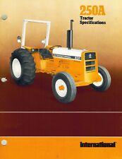 International Vintage 250A Wheel Tractor Specifications Brochure 1978