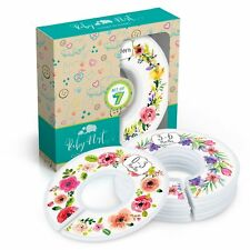Baby Closet Dividers, Set of 7 Flower Bouquet Dividers Sized from Newborn to .