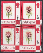 GIBRALTAR : 1982 1/2p  Definitive on chalky paper  SG 374a fine used block of 4