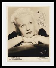 MARION HUTTON - SIGNED 8X10 PHOTO - 1940's - BIG BAND - GLEN MILLER - AUTOGRAPH
