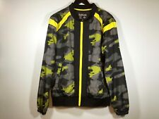Black Jack Camo Bomber Wind Breaker New Mens size L