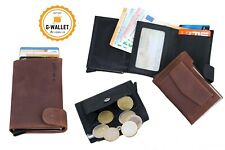 G-WALLET Smart-WALLET Karten-Etui Münzfach Kreditkarten-Etui Slim-WALLET