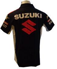 NEW SUZUKI RAC MOTORCYCLE SPORT RACING TEAM BIKER BLACK POLO SHORT T-Shirt Sz XL