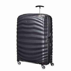 "NEW Samsonite Lite Shock 30"" BLACK Carry on Luggage 4-wheeled 80317-1041"