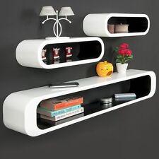 Wall Shelving Units Books Modern Retro Bedroom Office Living Room Shelf 3 Red UK