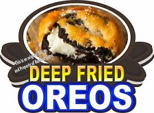"Deep Fried Oreos Decal 14"" Concession Trailer Food Truck Vinyl Menu Sticker"