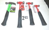 Lot of (4) NEW Craftsman Hammers 3 Sizes of Ballpeen + 1- Rip Claw