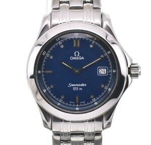 OMEGA Seamaster120 blue Dial SS Quartz Men's Watch R#100510