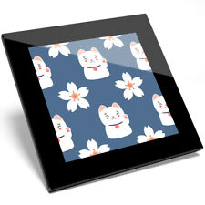 1 x Cute Lucky Cat Lotus Flower Coaster - Kitchen Student Quantity Gift #8729
