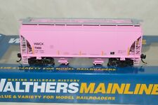 HO Walthers HWCX Pink Haliburton Trinity 3281 39' 2 Bay Covered Hopper Car 7999