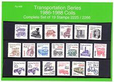 Transportation Series 1985 -1988 19 Stamps 2225 / 2266 MNH Pg-46B