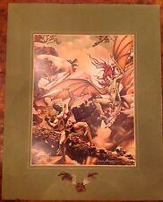 RARE VTG DAVID MARTIN Ltd Ed SIGNED 15/100 FANTASY Print DUNGEONS & DRAGONS RPG