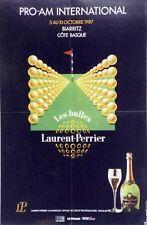 """""""LAURENT-PERRIER"""" Affiche originale entoilée 1987      44x65cm"""