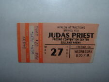 JUDAS PRIEST 1981 Concert Ticket Stub FRESNO CA SELLAND ARENA Very Rare