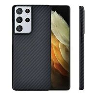 For Samsung Galaxy S21+ Ultra 5G Genuine Carbon Fiber Case Shockproof Cover