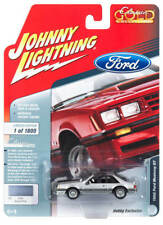 Johnny Lightning 1/64 1982 Ford Mustang Silver Poly Die-Cast Car JLSP038