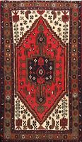 Tribal Traditional Geometric Hand-knotted Hamedan Area Rug Oriental Carpet 3'x5'