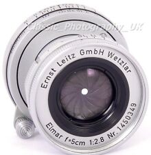 Elmar F = 5cm 1:2 .8 Leica L39 VITE 2.8/50mm obiettivo di E. LEITZ WETZLAR made in 1956