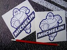 MICHELIN MAN TYRE STICKERS 12cm F1 LE MANS CLASSIC RACING MOTO GP SUPERBIKES