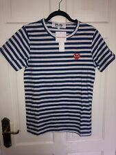 comme des garcons play t shirt size M blue stripes