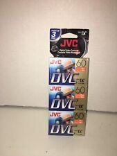 3 Pack JVC DVC 60 Digital Video Cassettes Mini DV LP mode