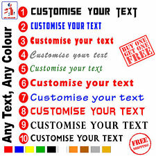 Custom Text Personalised Name Lettering Car Window Shop Van Decal Sticker BOGOF*
