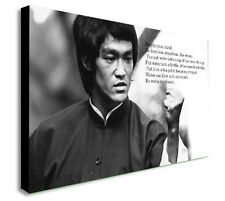 BRUCE LEE FAMOUS QUOTE - EMPTY YOUR MIND Canvas Wall Art Print. Various Sizes