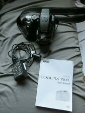 Nikon COOLPIX P100 10.3MP Digital Camera - Black FREE SHIPPING