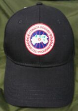 CANADA GOOSE Baseball Cap Black Hat With Metal Adjustable Buckle