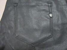 BEN SHERMAN WOMENS SIOUXSIE DARK BLACK BLUE COATED DENIM ZIPPER DETAIL SIZE 30