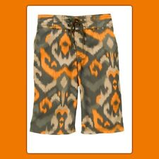 NWOT Boys 4 Gymboree TIKI CHIEF Orange pattern BOARD SWIM TRUNKS SHORTS elastic
