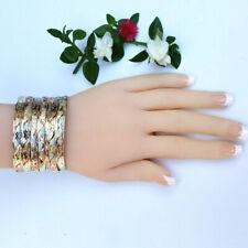 7 Bracelets Set Gold Plated.Tricolor. Semanario Chapa de Oro 3 colores. 7 piezas