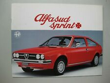 Alfa Romeo Alfasud Sprint prestige brochure Prospekt text Dutch 24 pages 1977