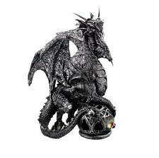 Grey Mystical Dragon Figurine On Ball New Boxed 68950
