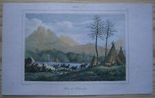 1840 print DWELLINGS OF PEHUENCHES, CHILE (#10)