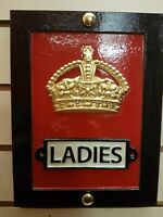 RED TELEPHONE BOX WC TOILET L PLAQUE - CAST OF ORIGINAL CROWN K6, BOOTH, KIOSK