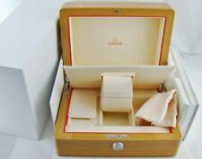 New Authentic Omega Presentation Wooden Watch Display Box & Card Holder