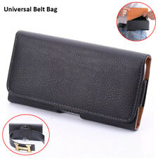 For Apple iPhone SE 2020 Universal Phone Pouch Waist Bag Belt Clip Leather Case